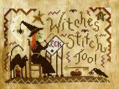 Witches Stitch Too --  we sure do!