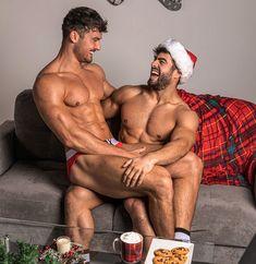 Santas Lap Pretty Men, Gorgeous Men, Naughty Santa, Male Photography, Male Physique, Gay Couple, Man In Love, Attractive Men, Handsome Boys