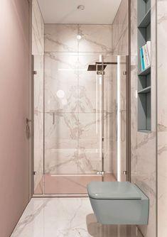 Contemporary and Modern Bathroom Tile Ideas to Design New Interior Looks Small Bathroom Tiles, Bathroom Tile Designs, Bathroom Toilets, Bathroom Interior Design, Bathroom Pink, Narrow Bathroom, Bathroom Layout, Bathroom Fixtures, Bathroom Ideas