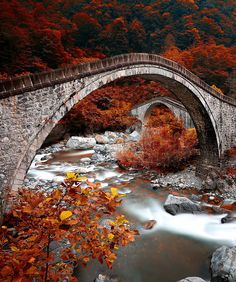 "coiour-my-world: ""Double stone bridges, Riza, Turkey by erhan asik """