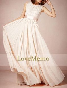 White/ivory formal long prom/evening/party/bridesmaid/dress/ballgown chiffon/satin full-length on Etsy, $79.00