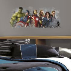 Avengers Age of Ultron Distressed Giant Decal - Wall Sticker Outlet