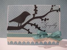 Sympathy card made with Songbird