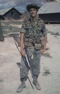 US Marine Chuck Mawhinney, sniper
