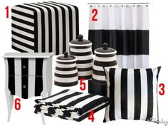 #Home #Decor Inspiration: Black And White Stripes http://frsky.me/16ZKohP