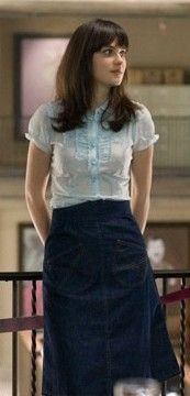 Zooey Deschanel in 500 Days of Summer  I MUST sew a skirt like this one! Pattern idea : Ginger - Colette Patterns