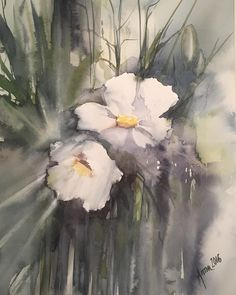 Flowers #art #akvarell #watercolor #watercolour #painting #flowers