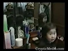 This is creepy, although I can't tell if it's paranormal or a hoax. Watch the girl's reflection in the right hand mirror....