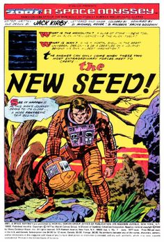 """next-imaginaut: """" Jack Kirby's A Space Odyssey title page gallery. Comic Book Artists, Comic Artist, Comic Books Art, Science Fiction, Comic Frame, Jack Kirby Art, 70s Sci Fi Art, Splash Page, Thing 1"""