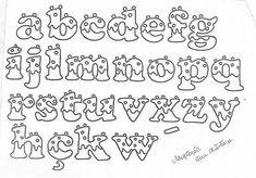Letras decoradas Doodle Lettering, Creative Lettering, Hand Lettering, Typography, Fonte Alphabet, Alphabet Design, Bubble Letter Fonts, Letter E, Stylish Alphabets