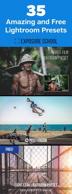 35 Amazing and Free Lightroom Presets - a collection of the best quality Adobe Lightroom presets that are available for free download
