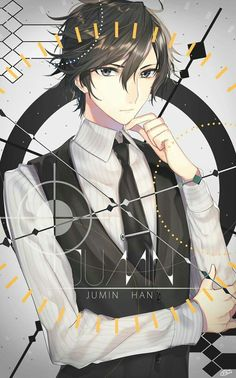 Find images and videos about anime, anime boy and mystic messenger on We Heart It - the app to get lost in what you love. Chica Anime Manga, Anime Guys, Anime Art, Jumin X Mc, Jumin Han Mystic Messenger, Zen, Fanfiction, Saeran, Mystique