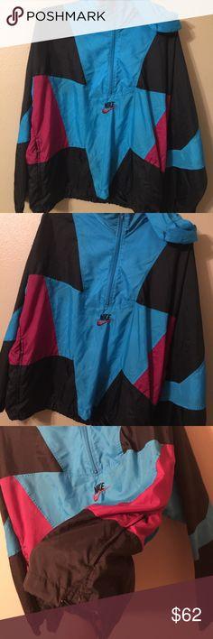 🔥90s NIKE windbreaker jacket colorblock RARE sz L Nike vintage windbreaker  from 90s 🔥 men s e26d18c64