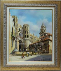 Santillán : Cathedral of Malaga. Medium: Oil on canvas Measurements (cm): 83x72 Canvas measurements (cm): 61x50 Interior frame: Yes. A great artist dedicated to landscapes and views of the region of Andalusia. His work stands out for its colouring and good workmanship, impressionist but with connotations of real architecture in some of his works.  $764.32