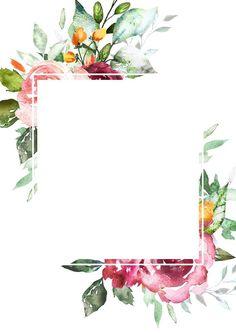 New flowers wallpaper watercolor illustrations Ideas Deco Floral, Motif Floral, Floral Border, Flower Backgrounds, Wallpaper Backgrounds, Iphone Wallpaper, Wallpapers, Pretty Backgrounds, Wedding Cards
