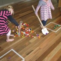 Pompom hockey and other ideas for keeping kids active.