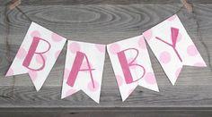 Baby Shower Banner, Garland, Photo Prop, Party Decor, Baby Banner www.letterkay.etsy.com - Letter Kay - #letterkay $18