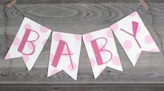 Baby Shower Banner, Garland, Photo Prop, Party Decor, Baby Banner www.letterkay.etsy.com - Letter Kay - #letterkay $18