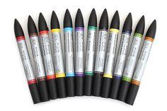 Winsor & Newton Watercolor Marker - 12 Color Set - WINSOR & NEWTON 0290001