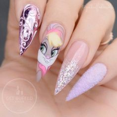 75 of the Best Nails? We hope you are as excited as we are to look at all of these wonderful nails! Peep all the amazing nail art here! Disney Acrylic Nails, Disney Nails, Best Acrylic Nails, Hot Nails, Hair And Nails, Bunny Nails, Holiday Nails, Nails Inspiration, Beauty Nails