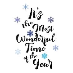 SVG - Its the Most Wonderful Time of the Year - Card sentiment - Lyric - Quote - Christmas - Holiday - Snow - Snowflake - Clipart