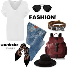 How To Wear White T-Shirt street style Outfit Idea 2017 - Fashion Trends Ready To Wear For Plus Size, Curvy Women Over 20, 30, 40, 50