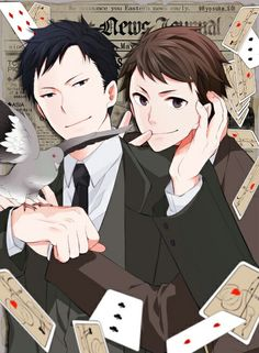 Tazaki and Kaminaga Joker Game Anime, Disney Princes, Pigeon, Animation, Games, Beautiful, Guys, Disney Princesses, Gaming