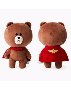 K2POP - LINE FRIENDS STORE OFFICIAL GOODS : RANGERS CHARACTER DOLL [SUPER BROWN]