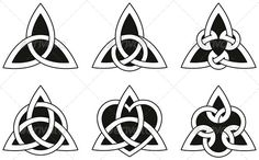 Celtic Triangle Knots #GraphicRiver A variety of celtic knots used for decoration or tattoos. Six varieties of endless basket weave knots. These knots are most known for their adaptation for use in the ornamentation of Christian monuments and manuscripts, such as the Book of Kells.