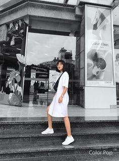 White Sneakers, Skirt, Dresses, Fashion, White Tennis Shoes, Vestidos, Moda, Fashion Styles, Dress