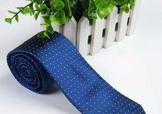 Striped and Polka Dot Skinny Fashion Men's Neckties