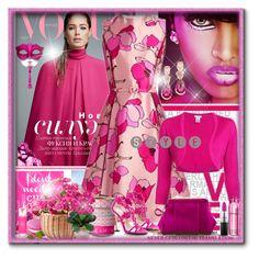 """Pink & Flowers"" by gianna-pellegrini on Polyvore featuring moda, Oscar de la Renta, Bloomingville, Montale e Kate Spade"