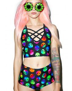 Alien BB #DollsKill #alien #space #galaxy #matching #lookbook #photoshoot
