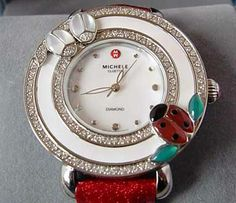 NEW Women'S Limited Edition Michele Ladybug Watch W Diamonds AND MOP Dial | eBay