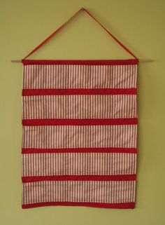 Fabric Advent Calendar - I have been looking for something I could reuse, that didn't involve candy or Santa.  Now I can make exactly what I want!