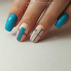 Nail art Christmas - the festive spirit on the nails. Over 70 creative ideas and tutorials - My Nails Colorful Nail Designs, Nail Art Designs, Nails Design, Hair And Nails, My Nails, Geometric Nail, Latest Nail Art, Nagel Gel, Easy Nail Art