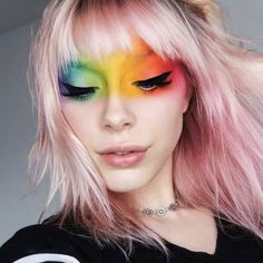 The Best Pride Makeup 2018 – Blush Magazine The Best Pride Makeup 2018 – Blush Magazine More from my site 9 rainbow makeup looks that are perfect for Pride month Kyrie Michelle Pride Outfit, Rainbow Makeup, Rainbow Face, Makeup 2018, Beauty Make-up, Creative Makeup Looks, Halloween Makeup Looks, Creepy Halloween, Fall Halloween