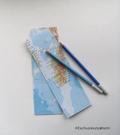 Geschenktüten - 2 Tüten Atlas für Stifte - ein Designerstück von farbenwerkstatt bei DaWanda
