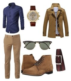 """""""my man style"""" by explorer-15098277769 on Polyvore featuring Red Wing, Urban Pipeline, Montblanc, BOSS Hugo Boss, Ray-Ban, men's fashion and menswear"""