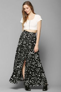 Kimchi Blue Country Picnic Maxi Skirt