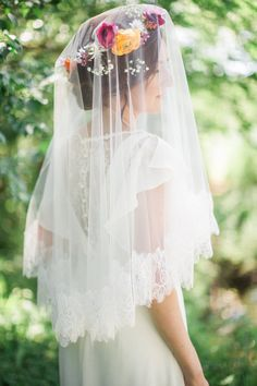 chantilly lace veil drop veil bridal veil with by thehoneycomb