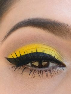 Bright Yellow for Summer. Two different yellow shades used. Brighter yellow in inner third, more orangey yellow on outer two third