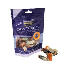 Sweet Potato Fish Wraps are made from sweet potato wrapped in fish skins. Sweet potato is a wonderful veggie, low in calories (an average of 28 calories per treat) and rich in Potassium and Vitamin A. Sweet potatoes are an ideal accompaniment to Sweet Potato Wrap, Fish Wrap, Fish Friday, Thing 1, Baked Fish, Dog Eating, Guilt Free, Healthy Treats, Eating Well