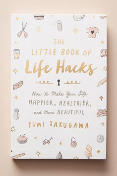 Little Book Of Life Hacks by Anthropologie in Pink, Books Book Club Books, Book Nerd, Good Books, Books To Read, My Books, Amazing Books, Amazing Things, Reading Lists, Book Lists