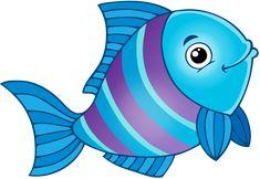 "Foto vom Album ""Cartoon Fish and Sea Animals"" auf – Ellen – Join the world of pin Cartoon Clip, Cartoon Fish, Cartoon Sea Animals, Cute Animals, Under The Sea Theme, Fish Art, Drawing For Kids, Sea Creatures, Rock Art"
