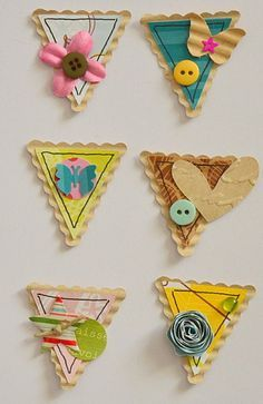 Triangle DIY embellishments 2019 Triangle DIY embellishments The post Triangle DIY embellishments 2019 appeared first on Scrapbook Diy. Album Diy, Tarjetas Diy, Ideias Diy, Paper Crafts, Diy Crafts, Candy Cards, Scrapbook Embellishments, Scrapbook Cards, Scrapbook Layouts