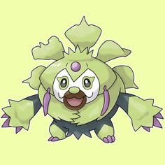"#002 SLOTHAUBA Sloth Pokémon Type: Grass/Psychic Height: 3'3"" (0.99m) Weight: 28.7 lbs (13.0 kg) Ability: Overgrow/Chlorophyll (hidden ability) Gender: 87.5% male, 12,5% female Level 36 > FOLISLOTH Pokédex entry: Thanks to its slowness and its camouflage, it is very difficult to spot SLOTHAUBA in the woods. It sleeps around fourteen hours a day hanging from the trees. HP - 70 ATK - 80 DEF - 63 SP. ATK - 80 SP. DEF - 65 SPD - 47 #brasulregion #fakemon #pokemon"