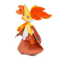 Image for Delphox Poké Plush (Large Size) - 12 In. from Pokemon Center Pokemon Full, Pokemon Packs, Pokemon Plush, Pikachu, Cute Room Decor, Plushies, Wands, Size 12, Anime