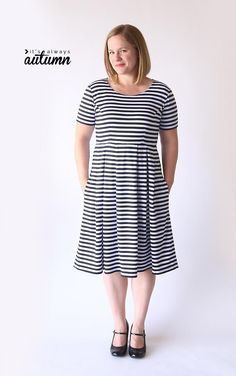 Create a simple and stunning DIY dress that's sure to flatter any figure with this Perfect Fit and Flare Dress Tutorial. Made to be easy to move in, this free dress tutorial for how to make a fit and flare dress teaches you how to design a dress usin