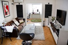 Krabbe's one-bedroom apartment, as featured on Apartment Therapy
